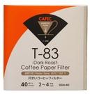 金時代書香咖啡 CAFEC 三洋 T-83 錐形漂白深烘專用濾紙 04 2-4人用 40入裝 CFD-04-T-83