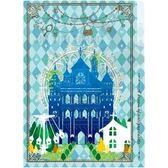 【超值加價購】A5三層小物夾 夏日魔法樂園-空中鞦韆 文件夾 發票收納 藍色