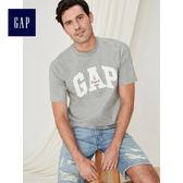 Gap男裝 logo休閒短袖T恤 424524-麻灰色