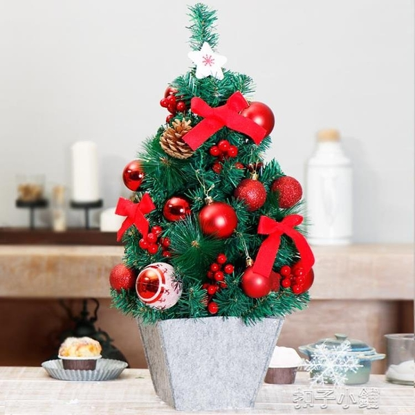 聖誕節裝飾品聖誕樹60cm迷你聖誕樹拍攝場景布置【年終盛惠】