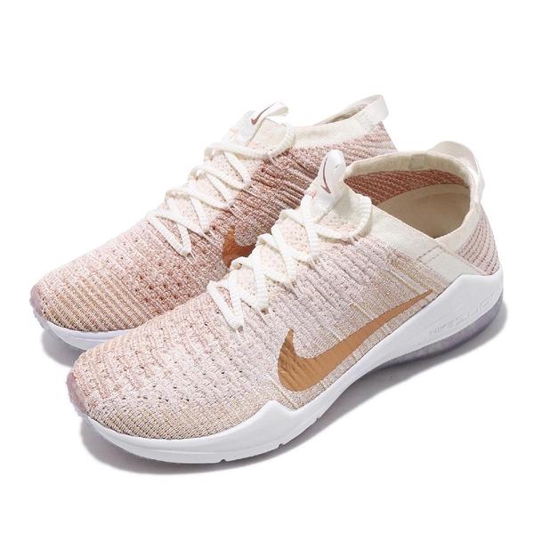 Nike 訓練鞋 Wmns Air Zoom Fearless Flyknit 2 MTLC 白 金 女鞋 【PUMP306】 AJ7845-100