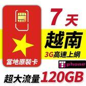 【TPHONE上網專家】越南電信 7天 120GB 不降速
