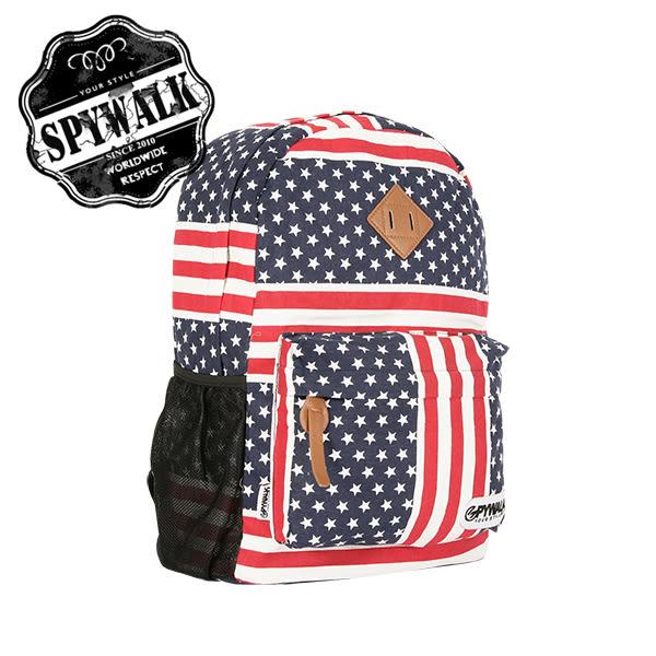 後背包 SPYWALK美國派美國國旗印花休閒包背包NO:2618-1