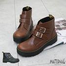 短靴 雙側扣魔鬼氈短靴 MA女鞋 T92...