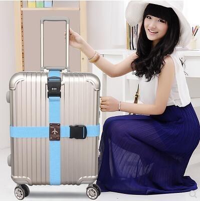 行李箱綁帶十字打包帶加厚捆綁帶旅行箱拉桿箱托運加固捆綁帶子