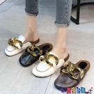 穆勒鞋 包頭半拖鞋女外穿2021春夏季新款網紅無后跟復古大平底穆勒鞋 寶貝計畫 618狂歡
