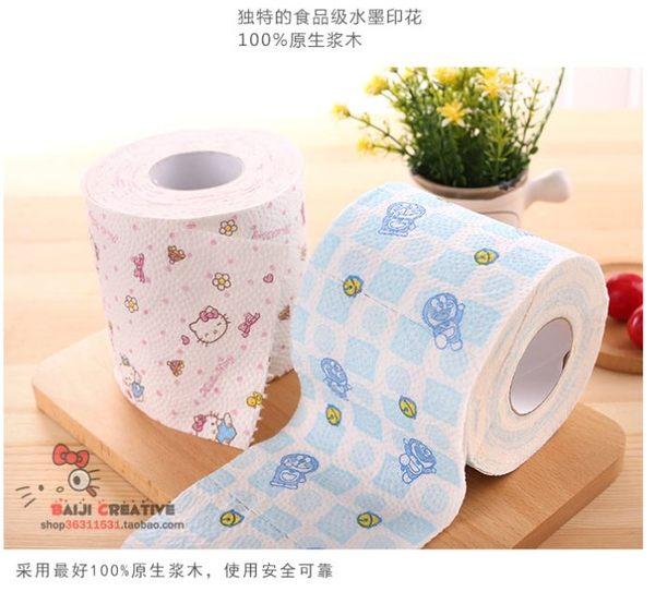 Star - 其他類  -Kitty /哆啦 可愛水墨印花卷筒廁所紙餐巾紙 -F42