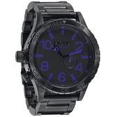 NIXON The 51-30超越潛能運動腕錶(鋼帶/紫)