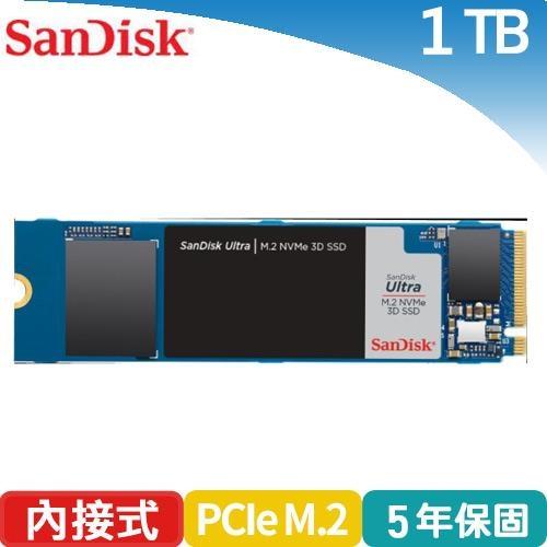 SanDisk Ultra 3D M.2 1TB NVMe SSD固態硬碟