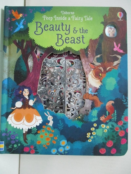 【書寶二手書T8/少年童書_DZD】Peep Inside a Fairy Tale Beauty and the Beast_Anna Milbourne