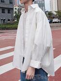 聖誕禮物長袖襯衫秋ins超火的白襯衫bf風韓版潮流長袖襯衣原宿外套潮 雲朵走走