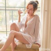 性感睡裙女夏季性感白襯衫韓版情趣超薄孕婦睡衣家居服情調衣人   XY3262  【KIKIKOKO】