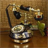 /TQJ陶瓷復古電話機/仿古電話機/黑色經典固定電話座機 MKS雙12