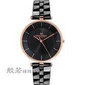 Max Max     簡約美學陶瓷腕錶-黑