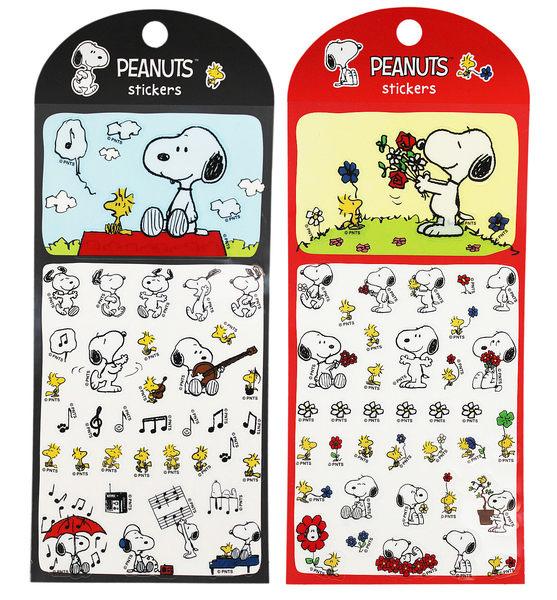 【卡漫城】 Snoopy 造型 貼紙 2入組 黑紅 ㊣版 史努比 台製 史奴比 裝飾 糊塗塔克 花生漫畫 Peanuts