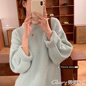 長款毛衣 慵懶風寬鬆顯瘦長袖套頭毛衣外套2021新款秋季女裝韓版中長款上衣 榮耀