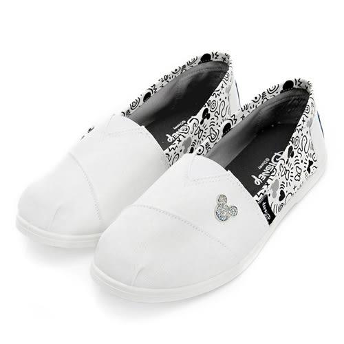 米奇亮蔥飾釦懶人鞋