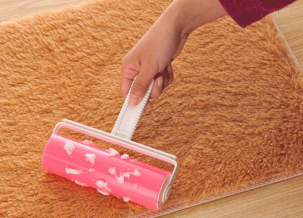 Qmishop 大號可水洗黏毛滾筒刷 衣物除塵滾輪刷 衣服黏毛刷 床上黏毛刷 除塵滾筒【QJ1946】