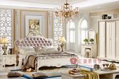 [紅蘋果傢俱] 6609 伯鑽系列 歐式 法式 新古典5尺 6尺 雙人床台 床架 (另售床頭櫃、化妝台、衣櫃)