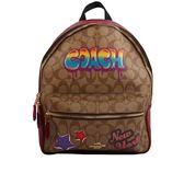 【COACH】PVC LOGO星星塗鴉口袋後背包(紅色) F31499 IME7V