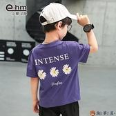 男童短袖男孩t恤衫兒童半袖韓版中大童上衣【淘夢屋】