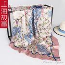 上海故事小絲巾90x90cm女夏季薄款圍巾正方形潮牌街頭大方巾領巾范思蓮恩