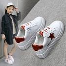 小白鞋女童鞋子新款年新款春秋季兒童板鞋幼兒園小學生白色男童鞋