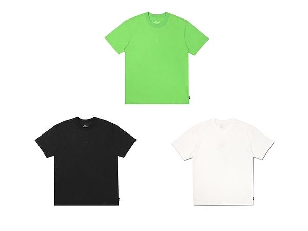 NIKE 男 圓領T(短) AS M NSW TEE PREMIUM ESSENTIAL 刺繡 LOGO 黑 白 綠DB3194010/DB3194100/DB3194304