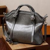 手提包-真皮簡約純色復古大容量女肩背包73se33【巴黎精品】