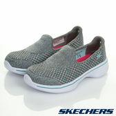 Skechers 灰色 GO Walk 4 套入式 輕量休閒鞋 女童鞋 NO.R1264