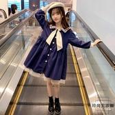 女童連身裙秋裝女孩長袖洋氣春秋兒童洋裝公主裙子【時尚大衣櫥】