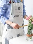 川島屋 北歐ins圍裙家用廚房女時尚防水防油男士全棉日式做飯罩衣