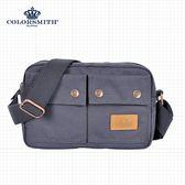 【COLORSMITH】SP8・小巧雙口袋斜背包-灰色・SP8-1107-A-GY