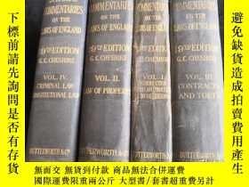 二手書博民逛書店Stephen`s罕見Commentaries on the Laws of England Ⅰ.Ⅱ.Ⅲ.Ⅳ 4本