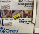 [COSCO代購] CA36797 CLEAN ONES GLOVE 拋棄式塑膠手套1000入