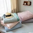 空調被 日式無印純棉水洗棉夏涼被空調被良品薄被子被芯全棉夏被格子條紋