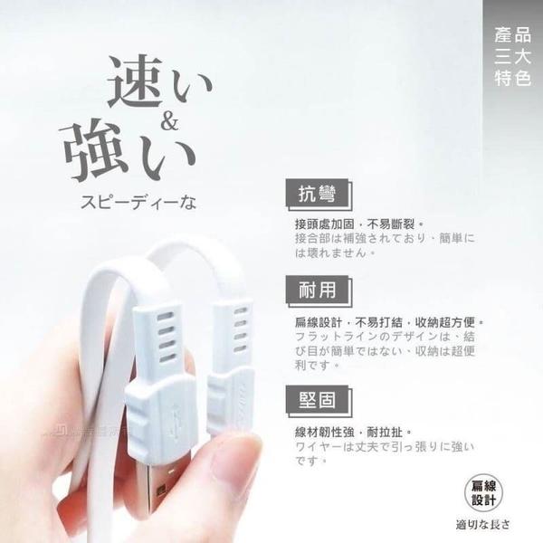 夏普 Sharp AQUOS S3 FS8032《台灣製Type-C 抗彎扁線 6A急速充電線》快速加長手機充電線傳輸線