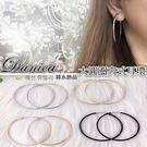 無耳洞耳環 現貨 不敗款 簡約百搭經典 5CM圓形 圈圈 夾式耳環 S91318 Danica 韓系飾品 韓國連線