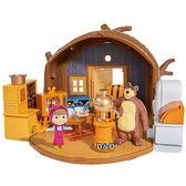《 瑪莎與熊 mashabear 》瑪莎遊戲組 - 熊熊的家╭★ JOYBUS玩具百貨
