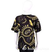 MOSCHINO 黑色品牌配件圖案短袖上衣 1520497-01