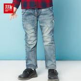 JJLKIDS 男童 英國懷舊刷白牛仔褲(牛仔藍)