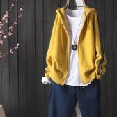 秋冬包芯紗 連帽拉鏈針織衫外套 文藝長袖毛衣開衫 秋季上新 降價兩天