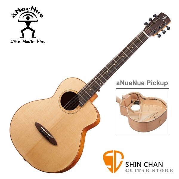 aNueNue M100E 飛鳥/36吋小吉他 可插電air blue拾音器/雲杉面板/桃花心木 全單板 附多樣配件