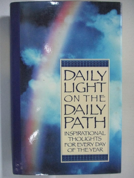 【書寶二手書T9/宗教_AZA】Daily Light on a Daily Path_Inspirational Press