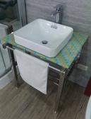 【麗室衛浴】組合優惠KOHLER  2661T檯上面盆組+KOHLER龍頭+不鏽鋼多功能造型架