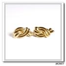 MONET 金色雙結弧形夾式耳環(金色)990132
