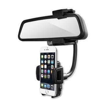 [哈GAME族]滿399免運費 可刷卡aibo GH5947 汽車後視鏡專用 多功能手機架/導航車架 固定在後視鏡