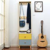 床頭櫃  北歐多功能床頭櫃掛衣架簡約現代床邊小櫃子簡易迷你臥室儲物收納 LP