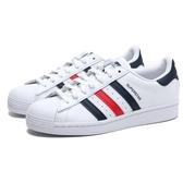 ADIDAS 休閒鞋 ORIGINALS SUPERSTAR 白藍紅 復古 男段女尺寸 (布魯克林) FX2328