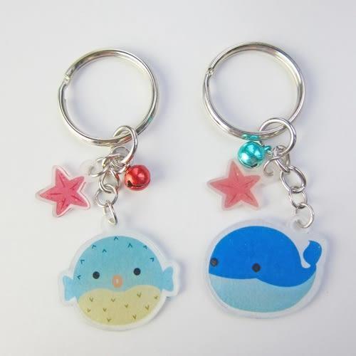 【米力設計】熱縮片鑰匙圈材料包-河豚與鯨魚